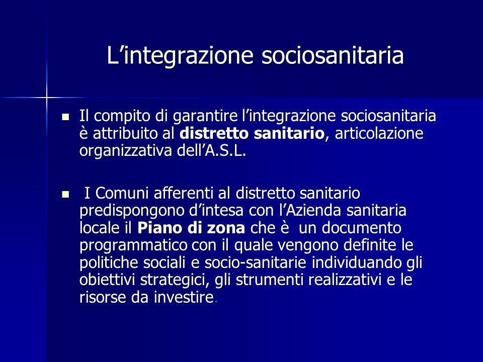 L'integrazione sociosanitaria