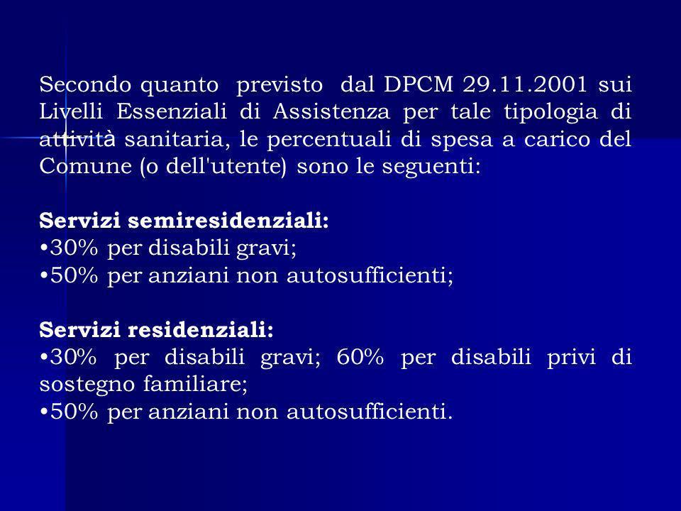Secondo quanto previsto dal DPCM 29. 11