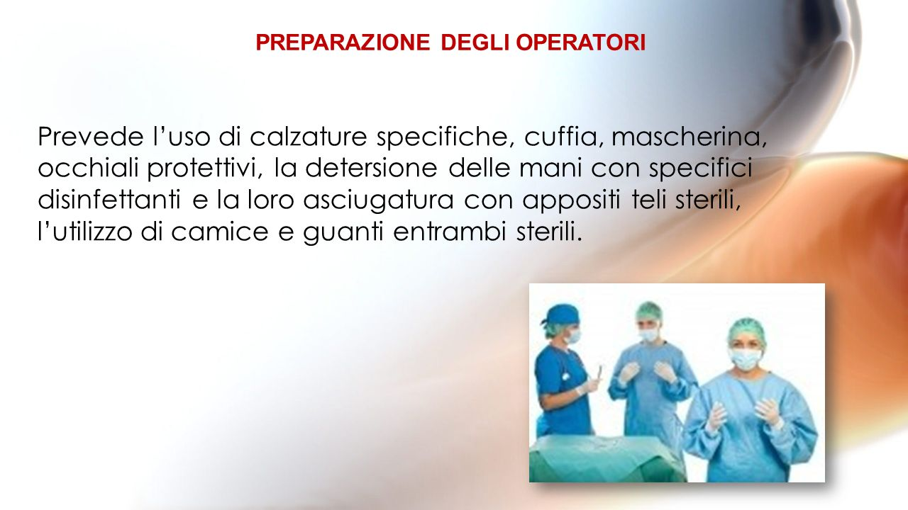PREPARAZIONE DEGLI OPERATORI