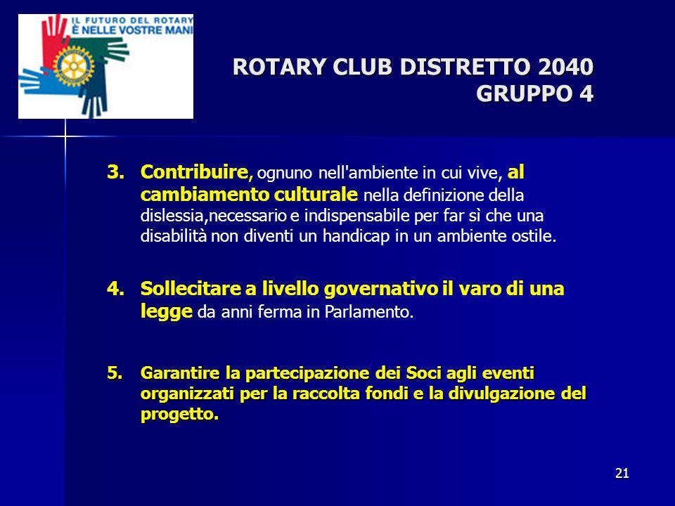 ROTARY CLUB DISTRETTO 2040 GRUPPO 4