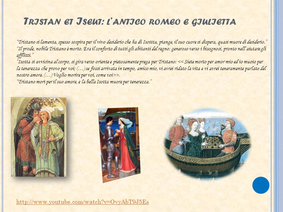 Tristan et Iseut: l'antico romeo e giulietta