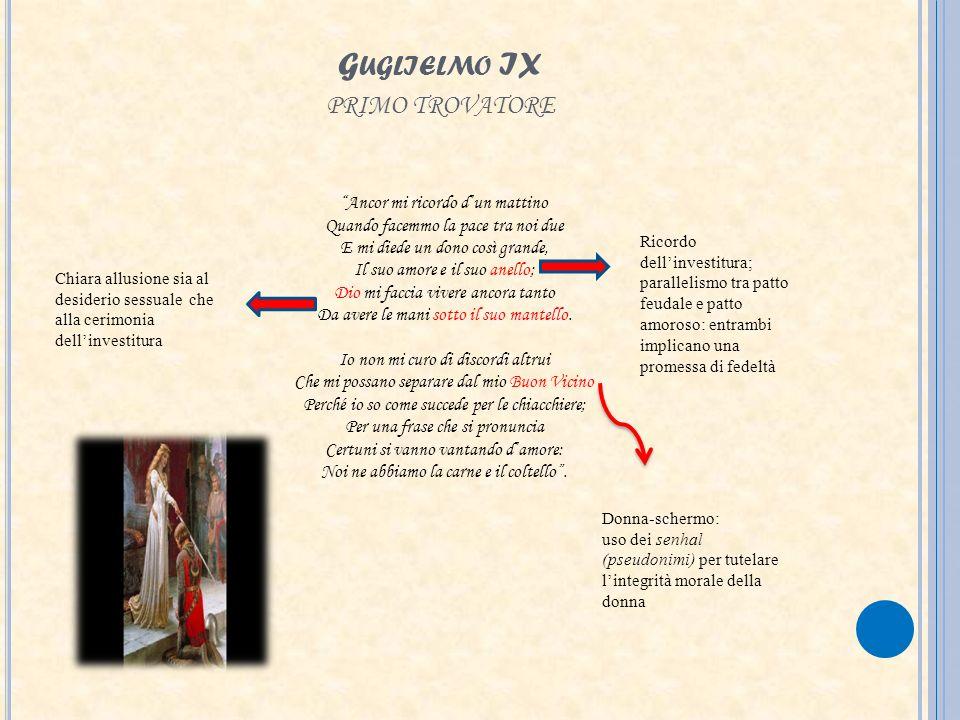 Guglielmo IX primo trovatore