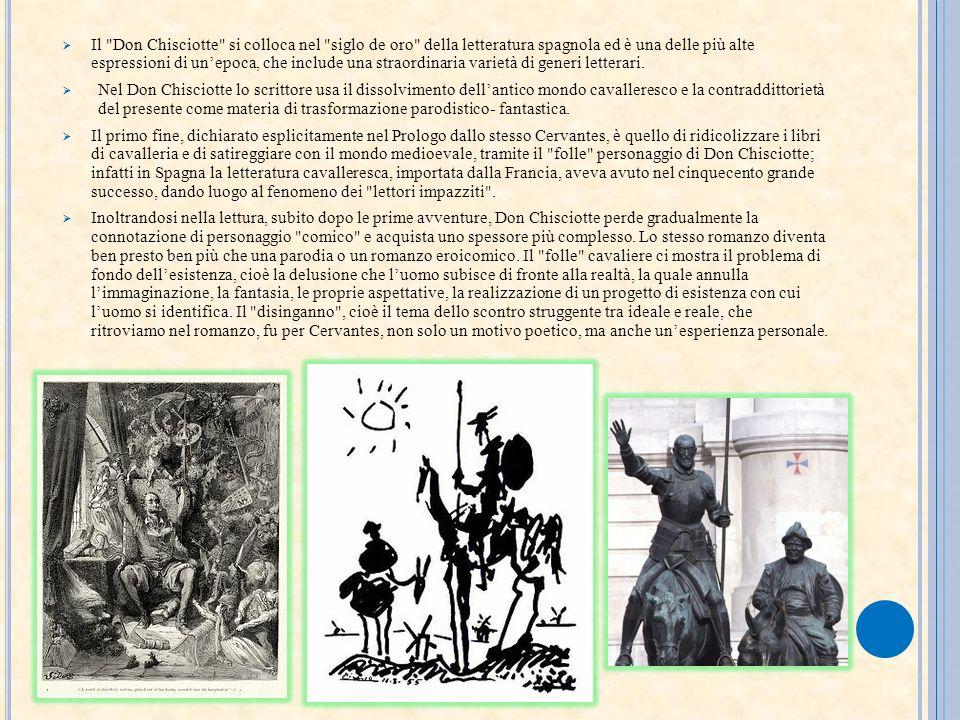 Il Don Chisciotte si colloca nel siglo de oro della letteratura spagnola ed è una delle più alte espressioni di un'epoca, che include una straordinaria varietà di generi letterari.