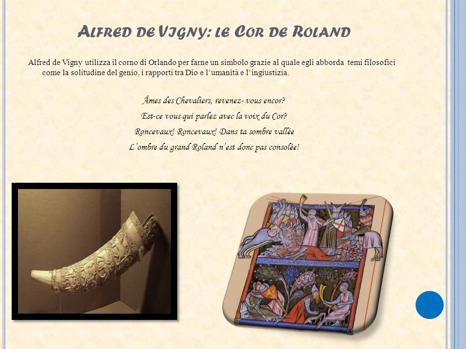 Alfred de Vigny: le Cor de Roland