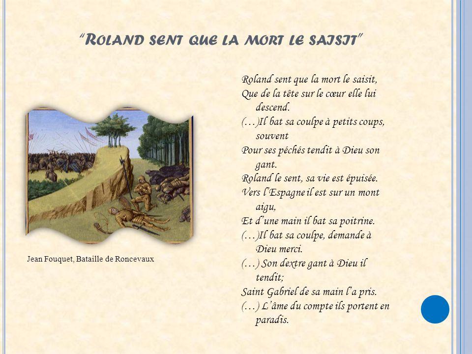 Roland sent que la mort le saisit
