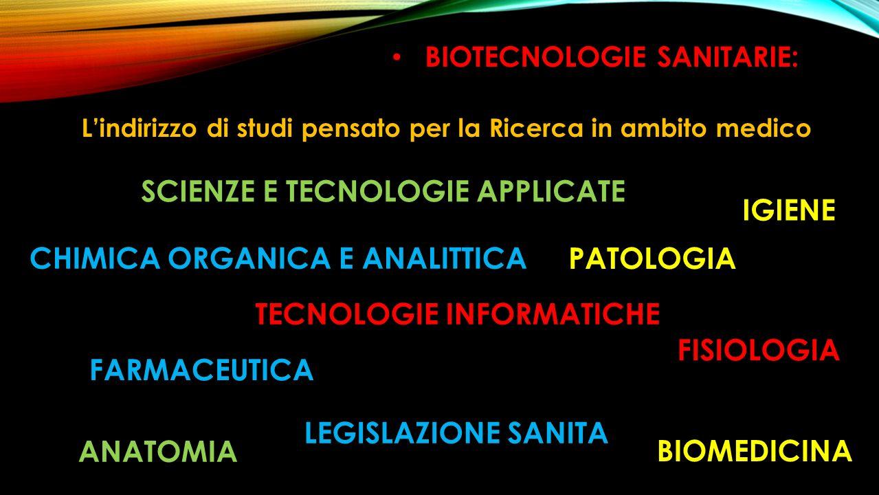 BIOTECNOLOGIE SANITARIE: