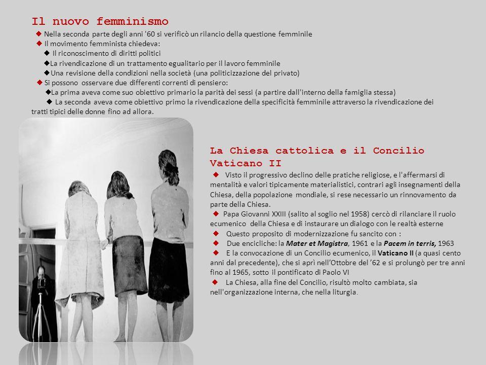 Il nuovo femminismo La Chiesa cattolica e il Concilio Vaticano II