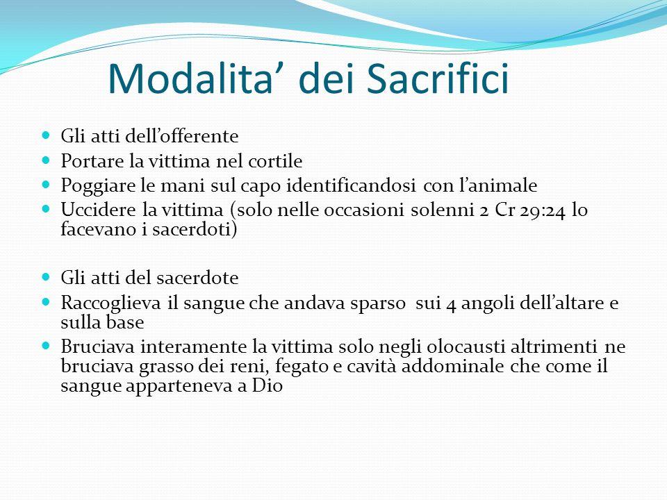 Modalita' dei Sacrifici