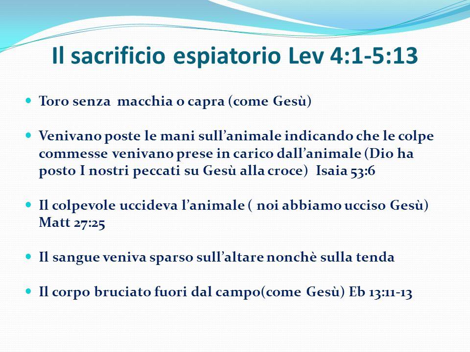 Il sacrificio espiatorio Lev 4:1-5:13