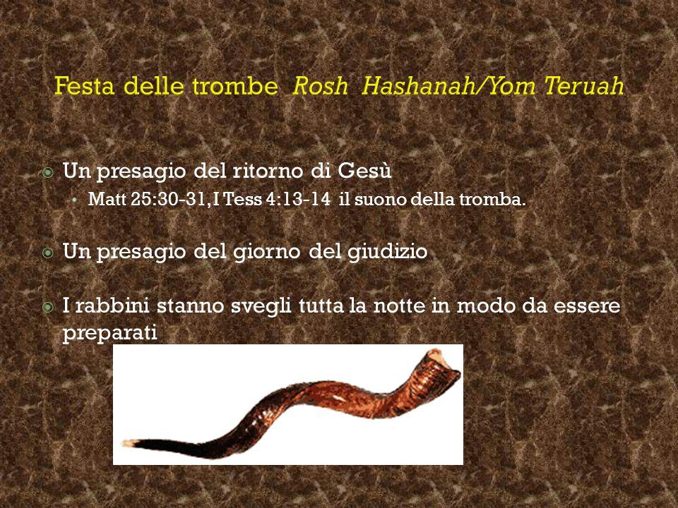 Festa delle trombe Rosh Hashanah/Yom Teruah