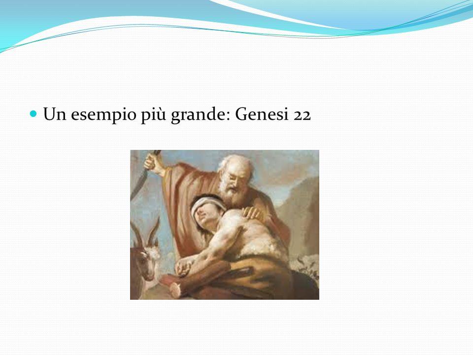 Un esempio più grande: Genesi 22