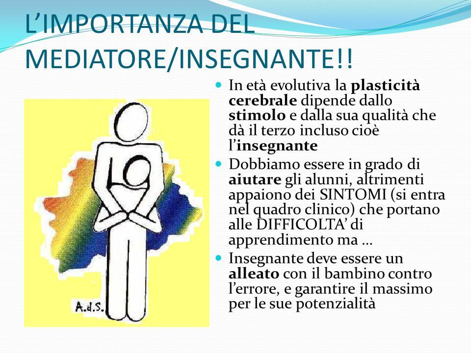 L'IMPORTANZA DEL MEDIATORE/INSEGNANTE!!