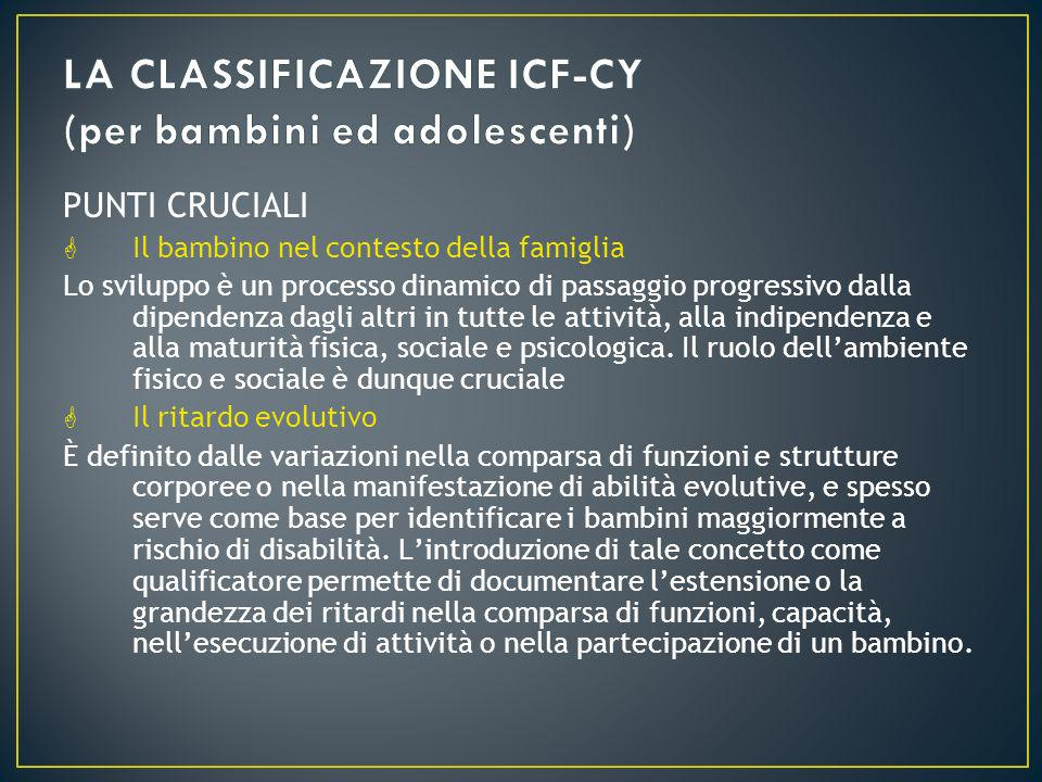 LA CLASSIFICAZIONE ICF-CY (per bambini ed adolescenti)