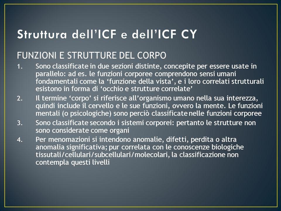 Struttura dell'ICF e dell'ICF CY