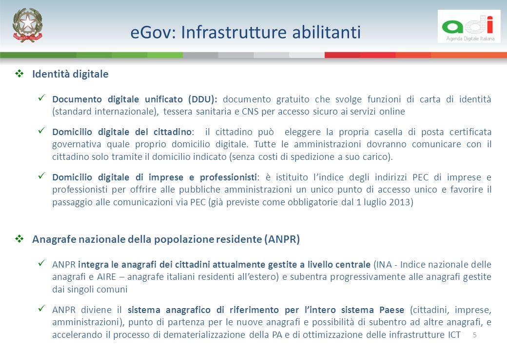 eGov: Infrastrutture abilitanti