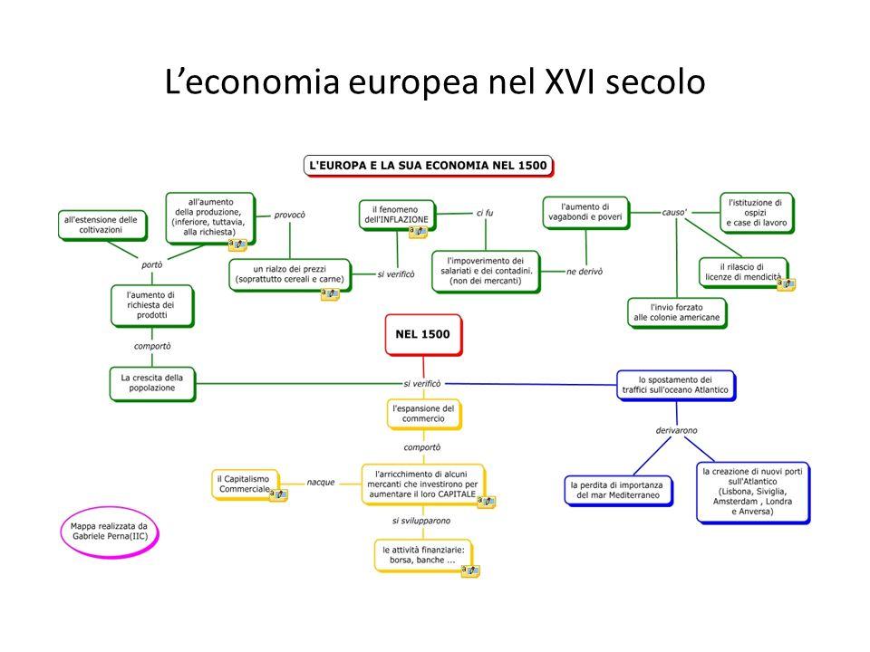 L'economia europea nel XVI secolo