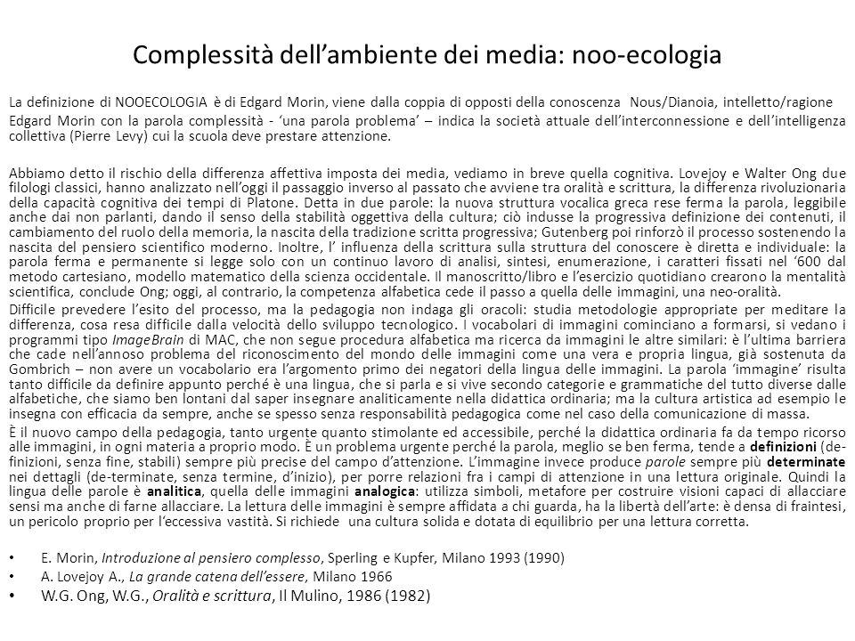 Complessità dell'ambiente dei media: noo-ecologia