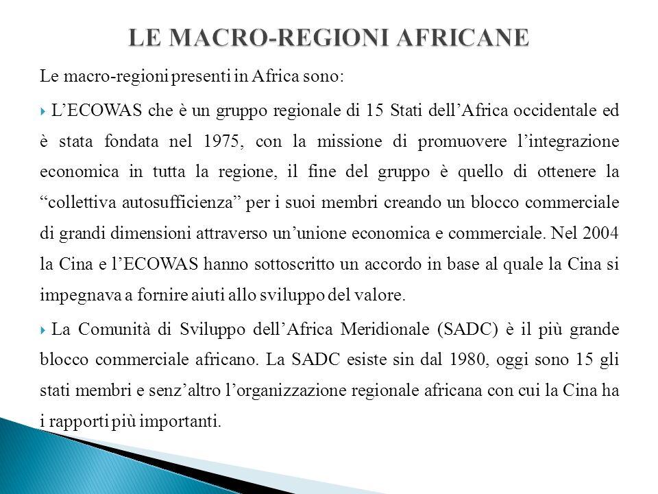 LE MACRO-REGIONI AFRICANE