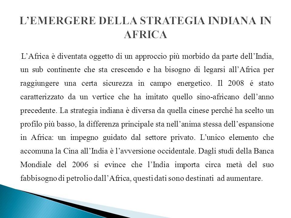 L'EMERGERE DELLA STRATEGIA INDIANA IN AFRICA