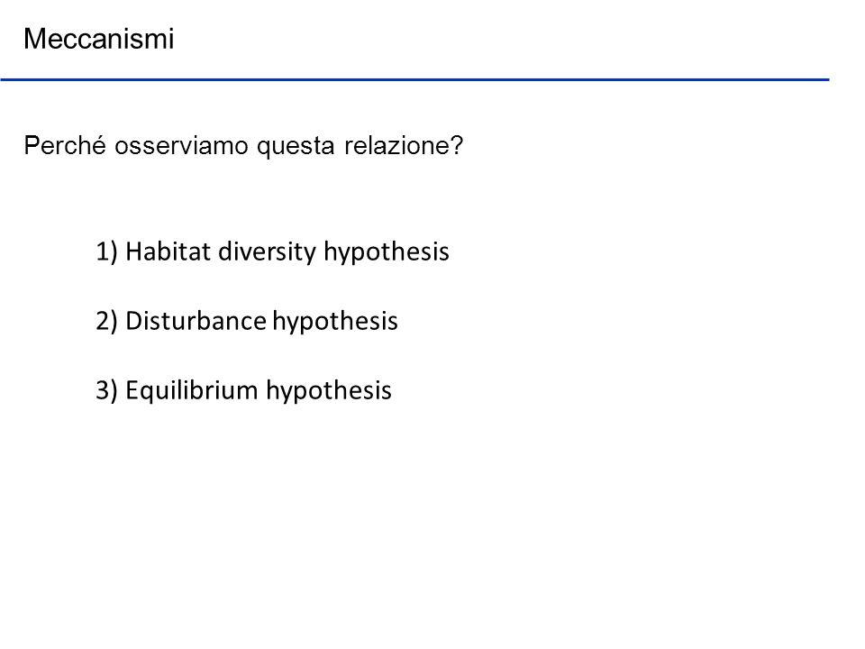 1) Habitat diversity hypothesis 2) Disturbance hypothesis