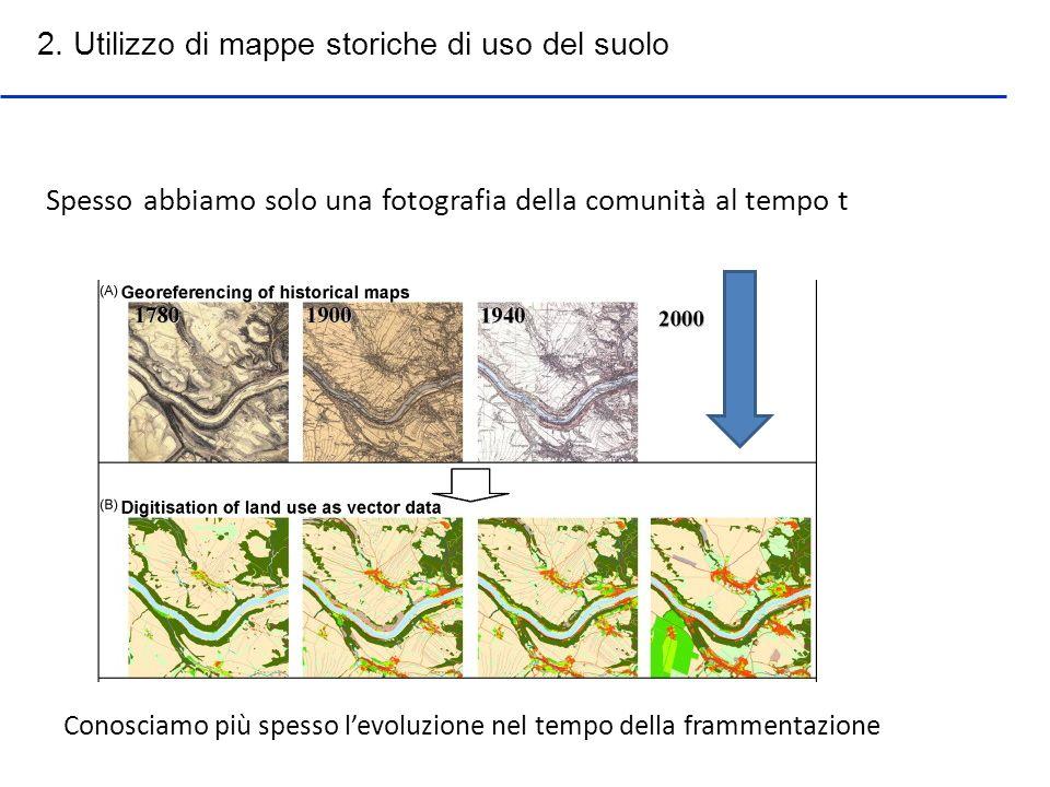 2. Utilizzo di mappe storiche di uso del suolo