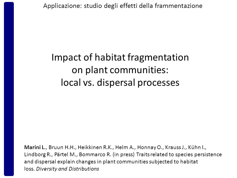 Impact of habitat fragmentation on plant communities: