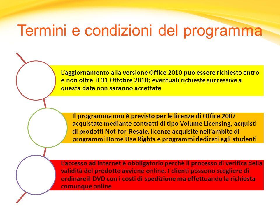 Termini e condizioni del programma