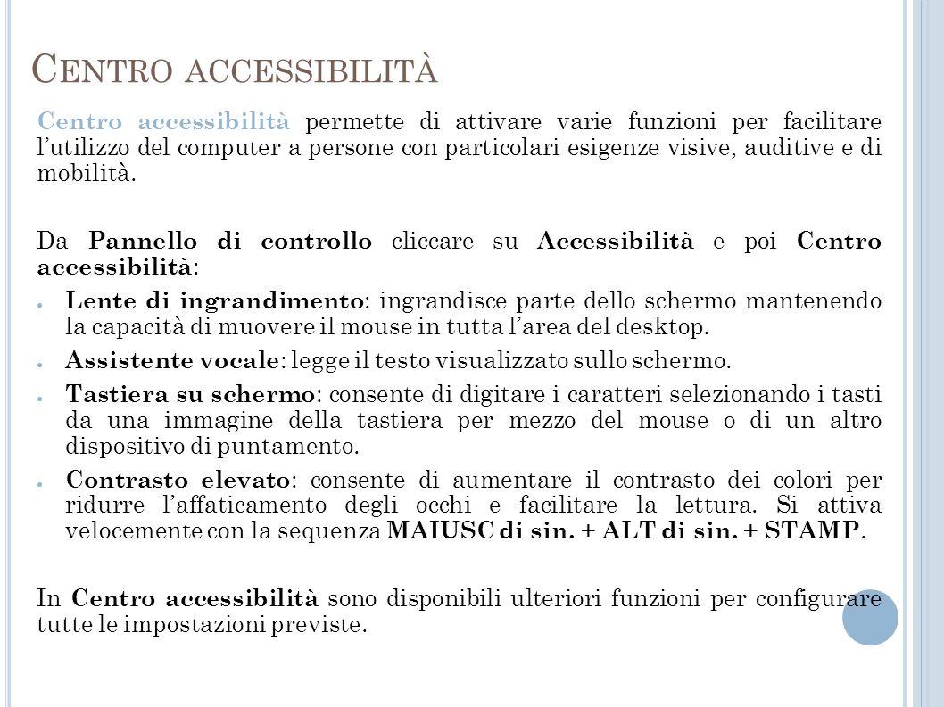 Centro accessibilità
