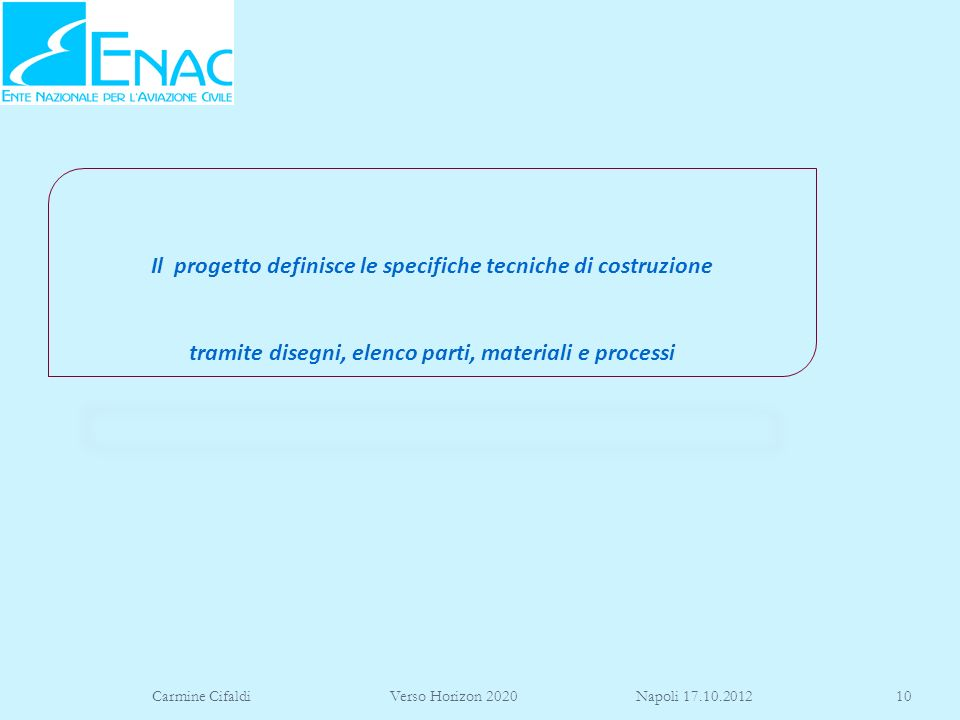 Il progetto definisce le specifiche tecniche di costruzione tramite disegni, elenco parti, materiali e processi