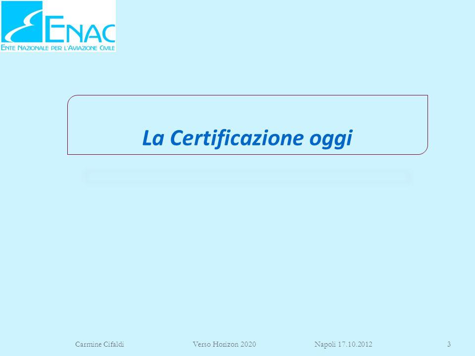 La Certificazione oggi