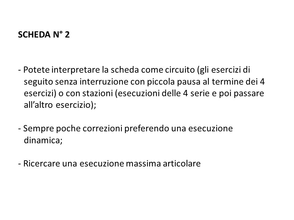 SCHEDA N° 2