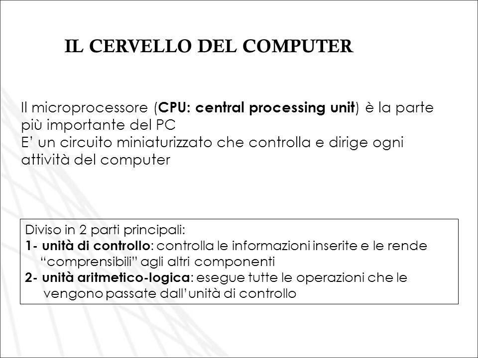 IL CERVELLO DEL COMPUTER