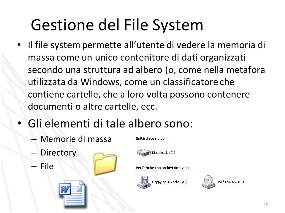 Gestione del File System