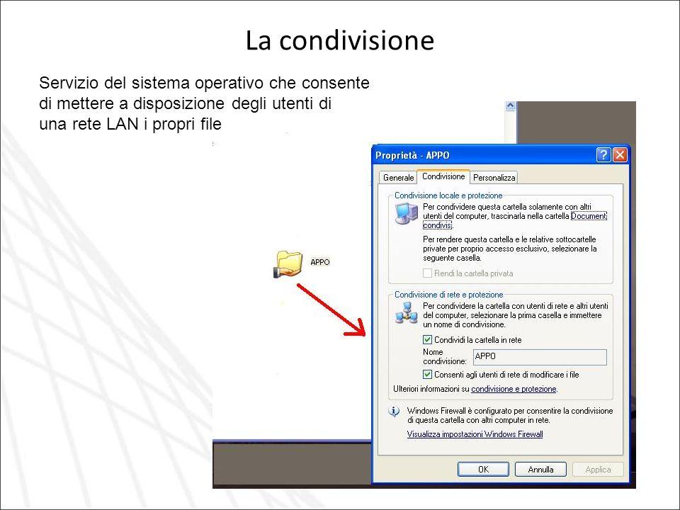 La condivisione Servizio del sistema operativo che consente
