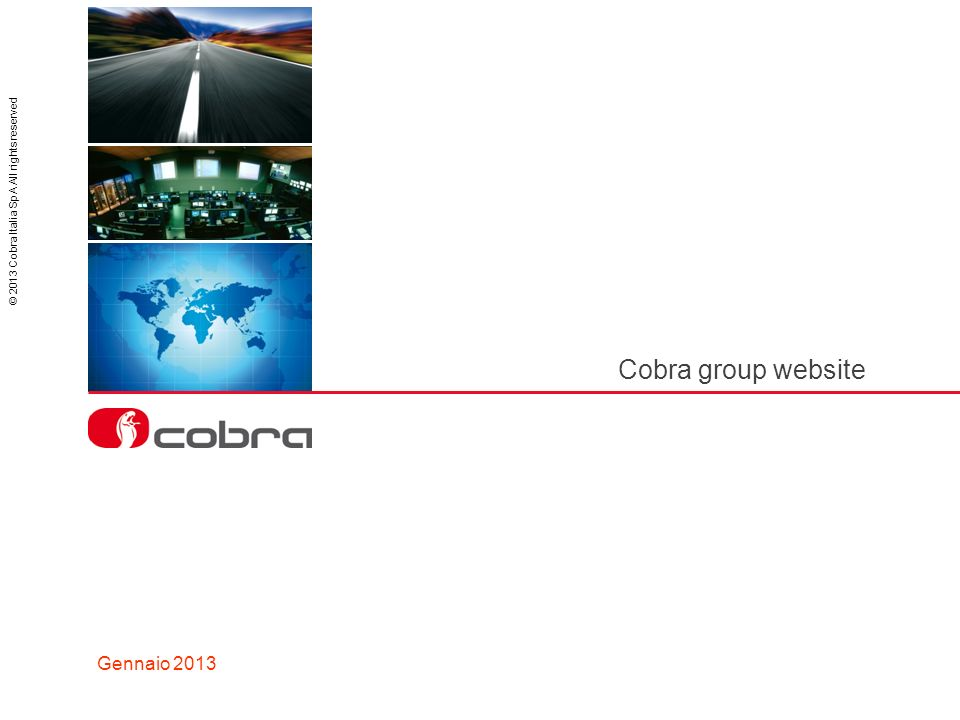 Cobra group website Gennaio 2013