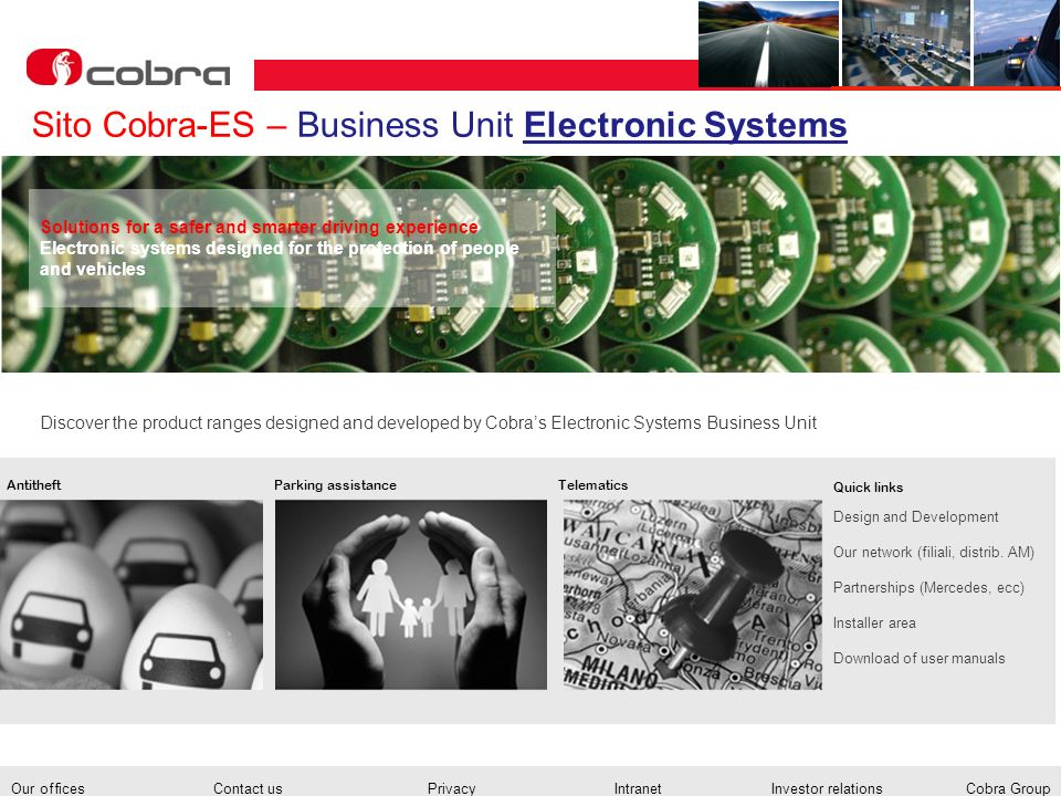 Sito Cobra-ES – Business Unit Electronic Systems