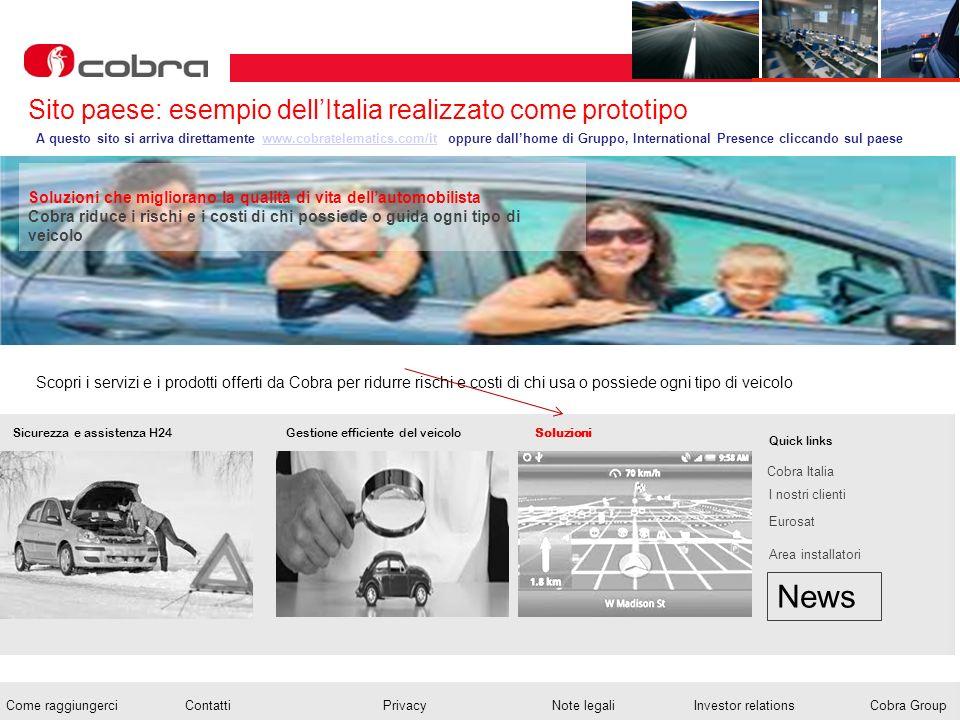 News Sito paese: esempio dell'Italia realizzato come prototipo