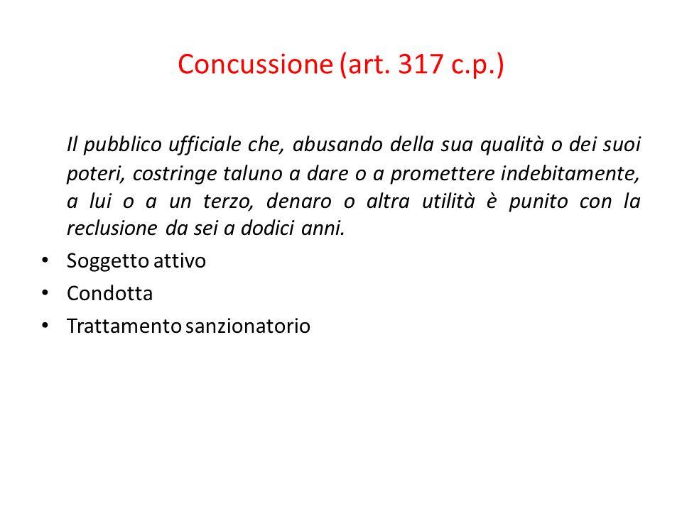 Concussione (art. 317 c.p.)