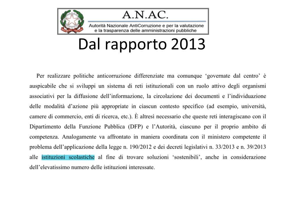 Dal rapporto 2013