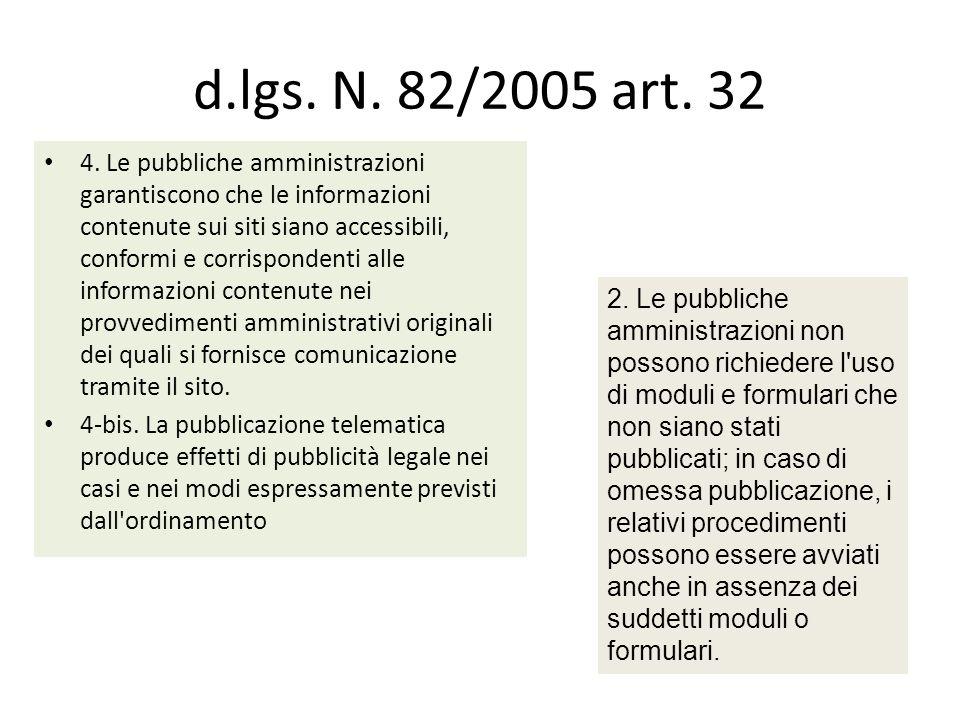 d.lgs. N. 82/2005 art. 32