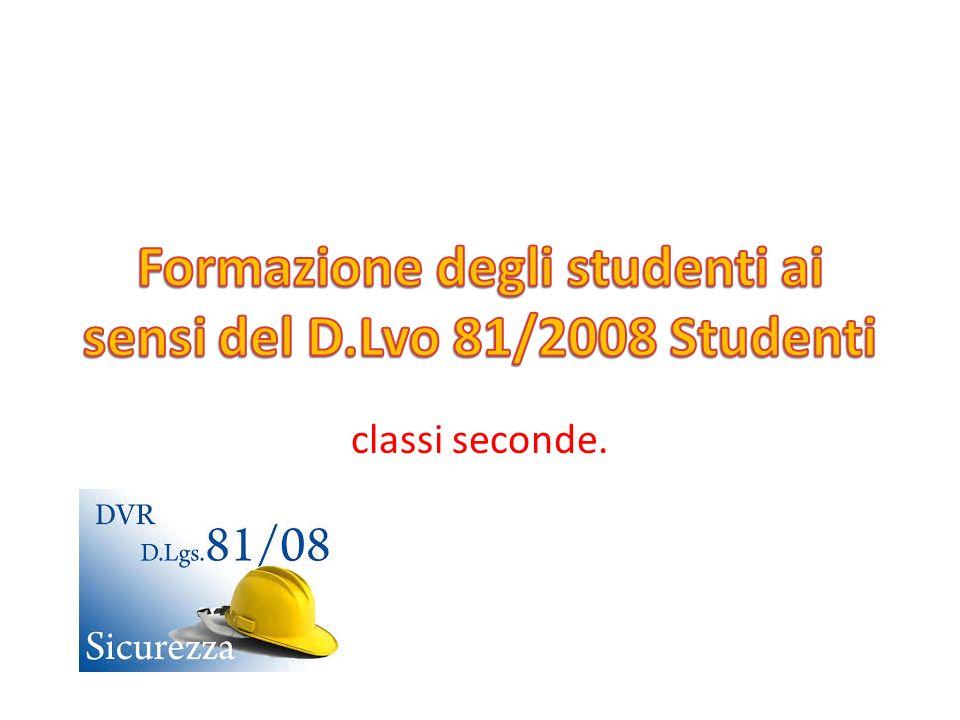 Formazione degli studenti ai sensi del D.Lvo 81/2008 Studenti