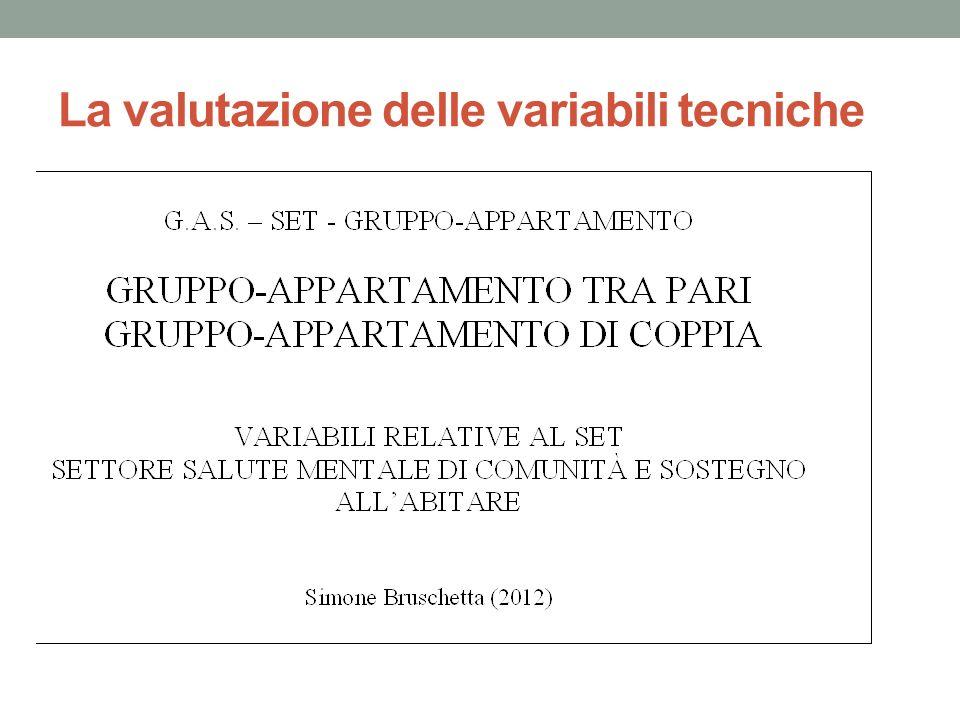 La valutazione delle variabili tecniche