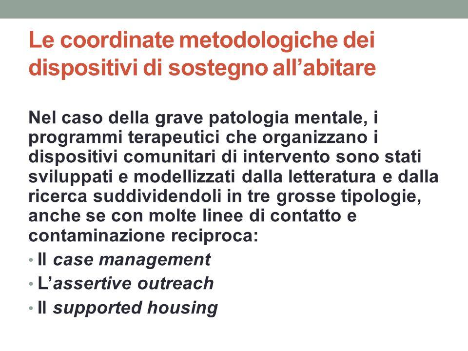 Le coordinate metodologiche dei dispositivi di sostegno all'abitare