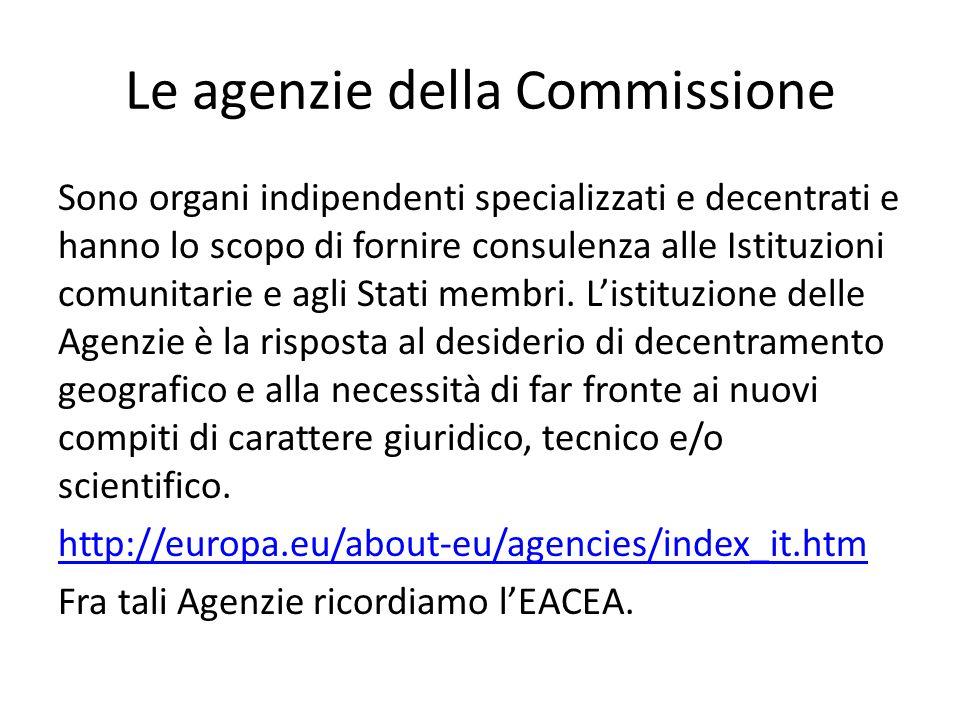 Le agenzie della Commissione