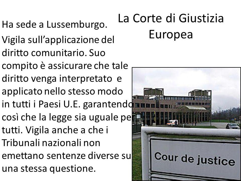 La Corte di Giustizia Europea