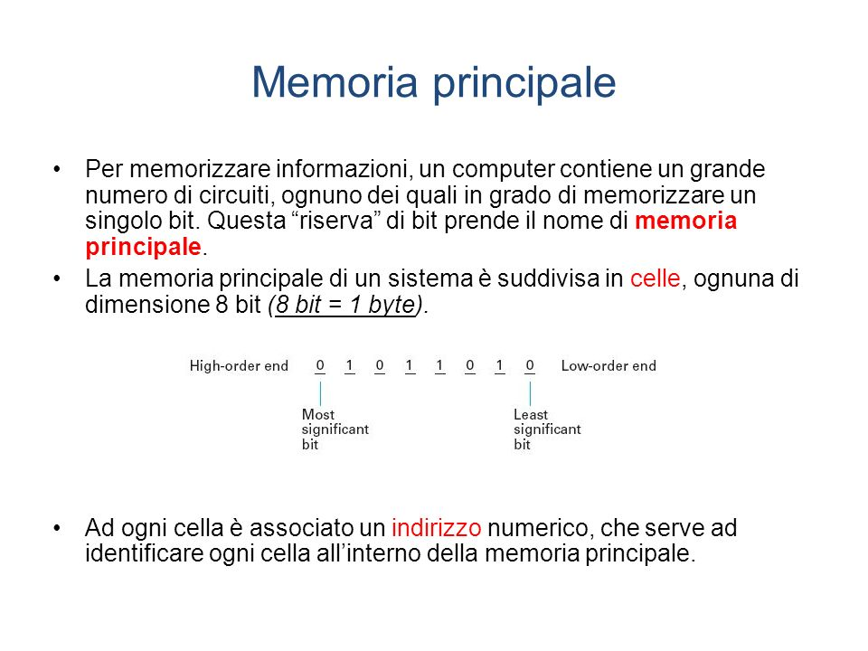 Memoria principale