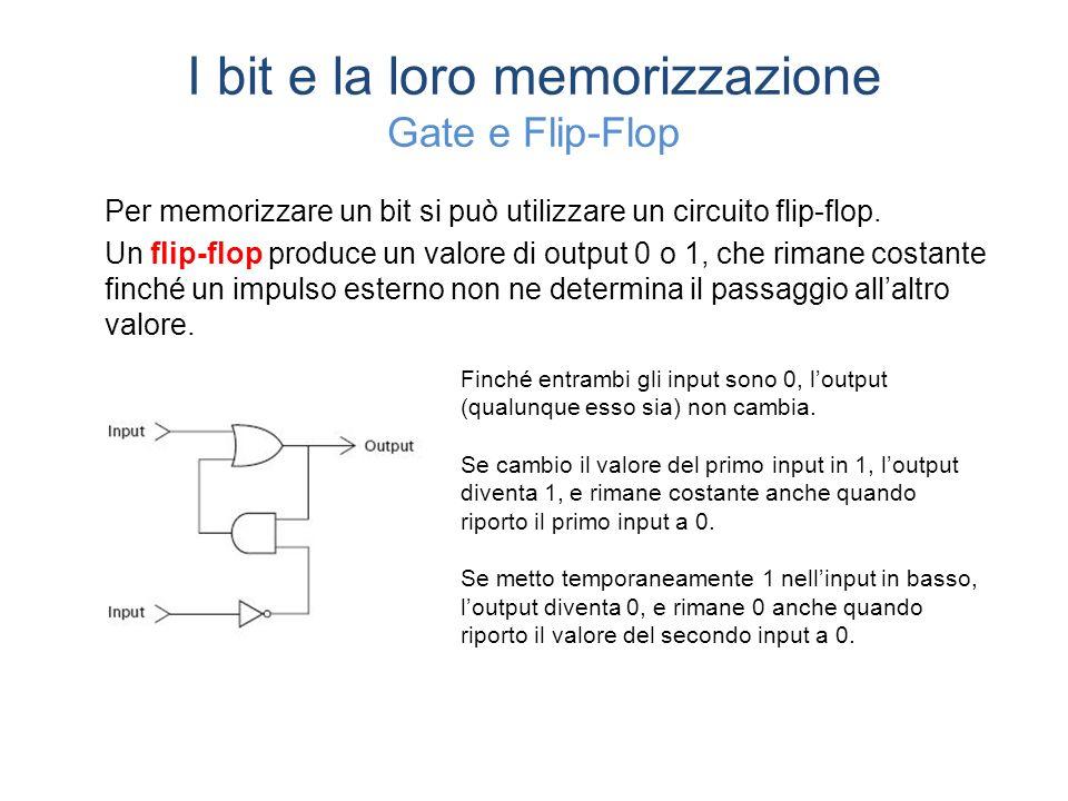 I bit e la loro memorizzazione Gate e Flip-Flop