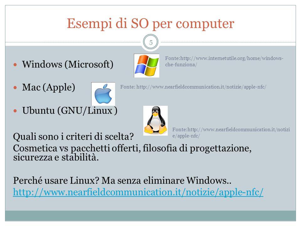 Esempi di SO per computer