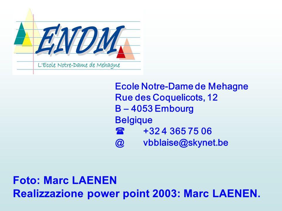 Realizzazione power point 2003: Marc LAENEN.
