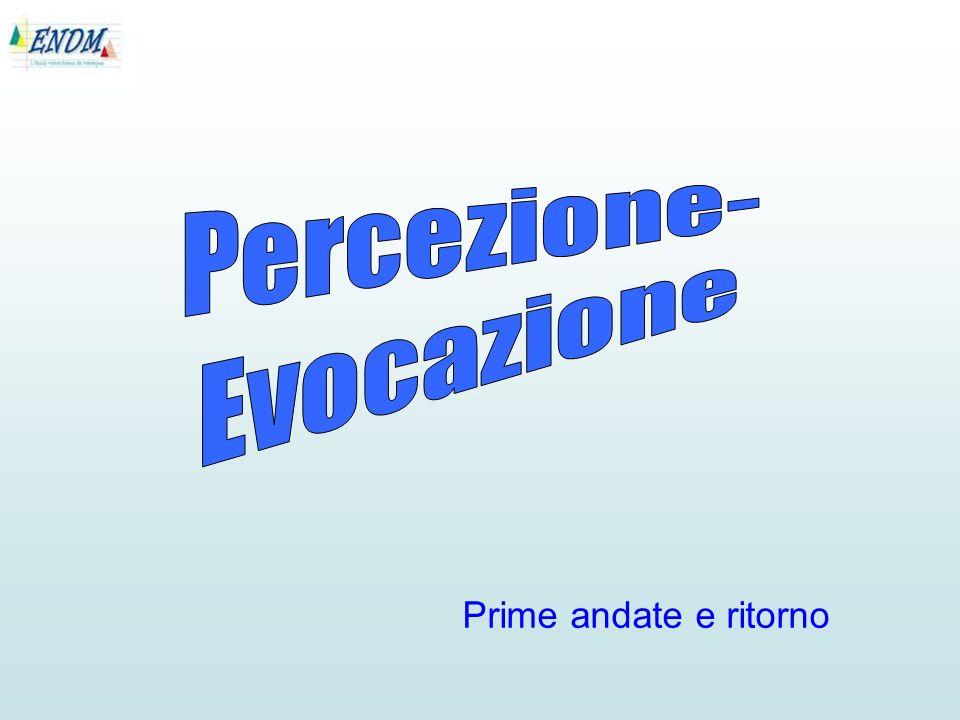 Percezione- Evocazione Prime andate e ritorno